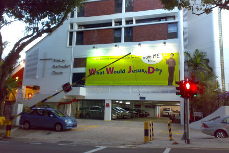 The church: Wesley Methodist , Singapore.